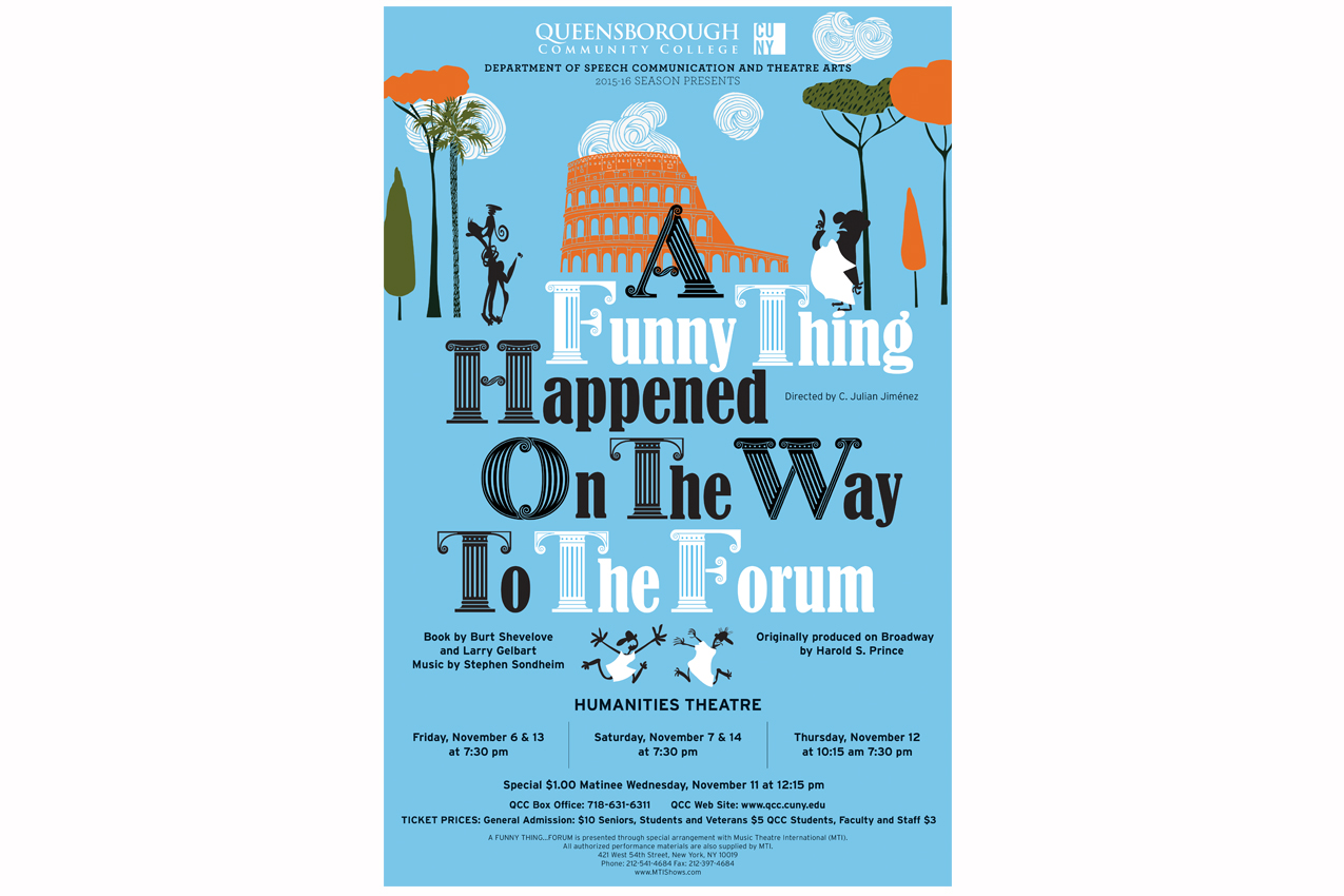 Poster design for students - A Funny Thing Happened On The Way To The Forum Poster